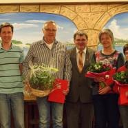 Ehrung bei der SPD Wilhermsdorf: René Müller, Herbert Kropstat, Harry Scheuenstuhl, Pia Pamer, Ingrid Rudolph