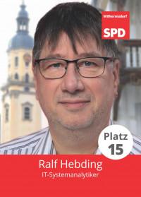 Ralf Hebding, Liste 5, Platz 15