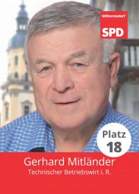 Gerhard Mitländer, Liste 5, Platz 18