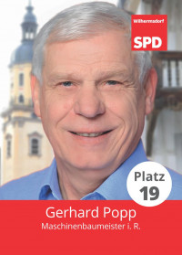 Gerhard Popp, Liste 5, Platz 19