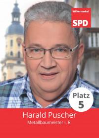 Harald Puscher, Liste 5, Platz 5
