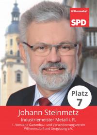 Johann Steinmetz, Liste 5, Platz 7