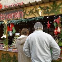 Stand des SPD-Ortsvereins auf dem Weihnachtsmarkt 2015
